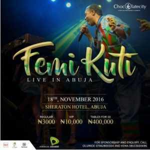Afrobeat Legend, Femi Kuti to perform live in Abuja